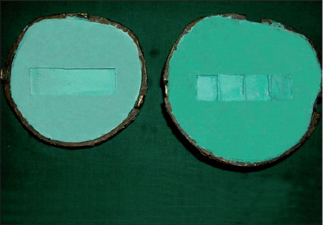 Figure 3: Mould prepared for silicone packing
