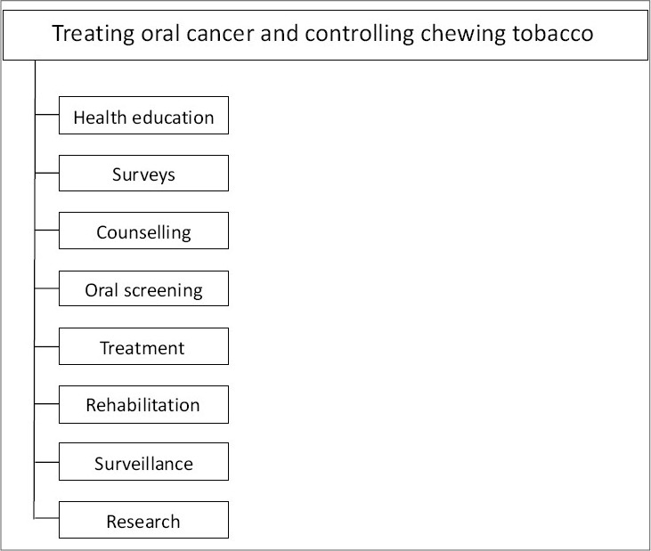 Figure 4: Holistic approach model for oral cancer control