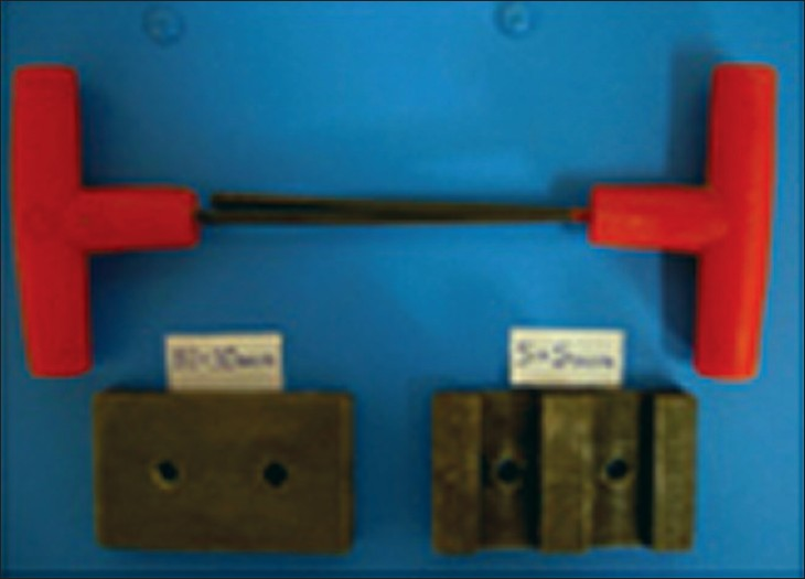 Figure 1 :Split metal molds