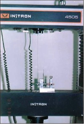 Figure 7: The same apparatus in the Instron Universal Testing Machine