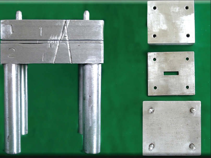 Figure 2: Standard split machined mold to fabricate specimens