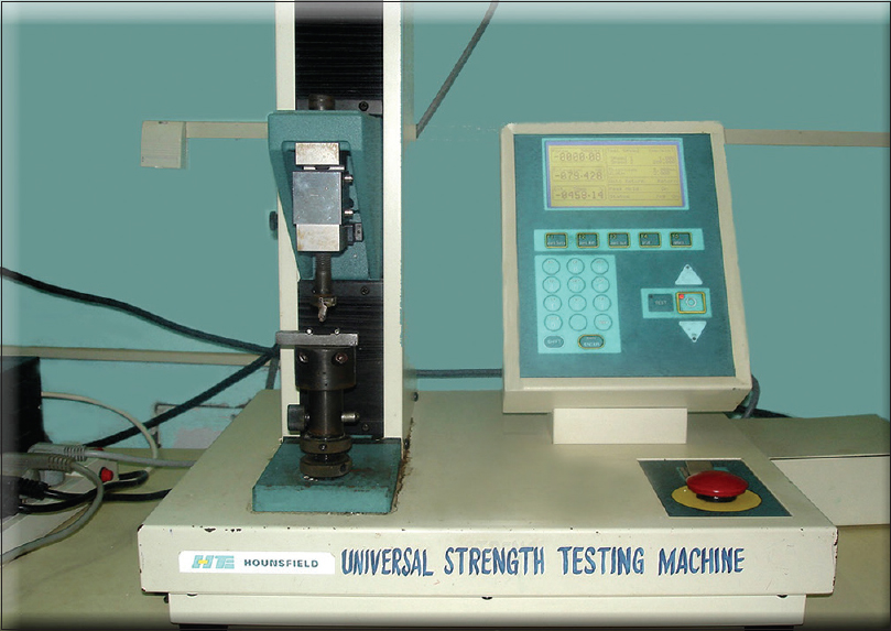 Figure 8: Instron testing machine and testing jig