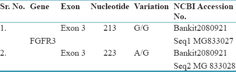 Table 4: NCBI accession numbers for novel mutations